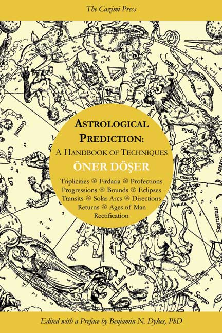 astrology, traditional astrology, medieval astrology, natal astrology, prediction, Oner Doser